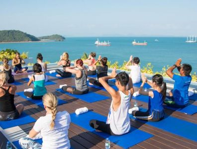 first yoga retreat